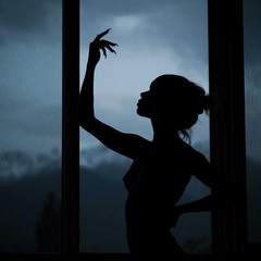 Silhouette at a window