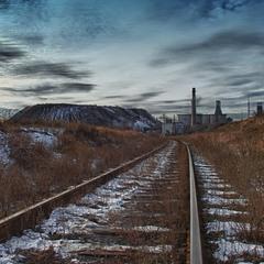 По дороге к шахте им. Ленина