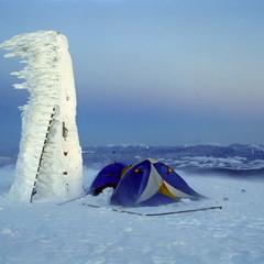 Утро на горе Говерла. 1 января, 8 часов утра
