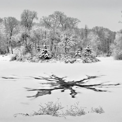 """Клякса"" на снегу"