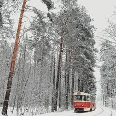 Зимовий трамвай