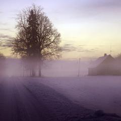 ... закат (-20C)