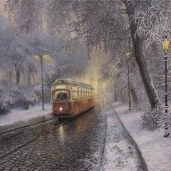 Городской трамвай...