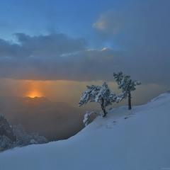 Первый снег на Ай-Петри