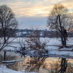 Зимний закат на Удах