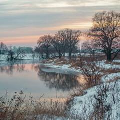 Зимний вечер на Удах