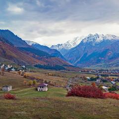 Осенний простор в горах