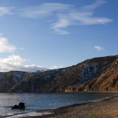 Яшмовый пляж зимой