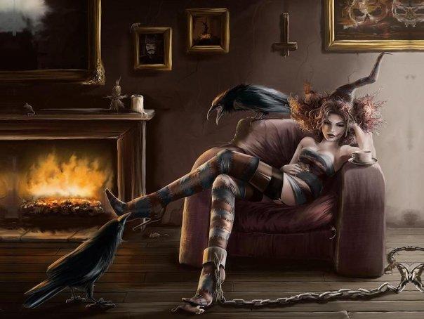 мистические фото секси девушек