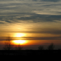 Просто захід сонця