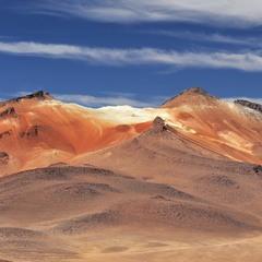 Цветные горы в Боливии.