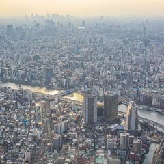 Токио (вид с Tokyo Sky Tree, второго по высоте здания мира после Бурдж-Халифы)