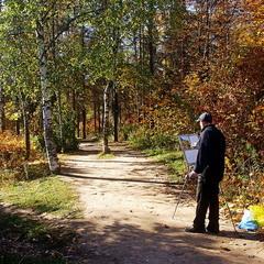 Художник  что рисует..... осень