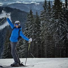 Я не приехала, а сама на лыжах дошла в Буковель.
