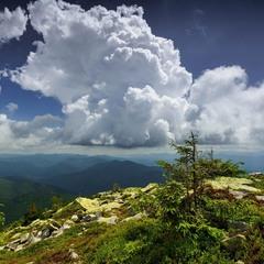 На вершині Карпатської гори