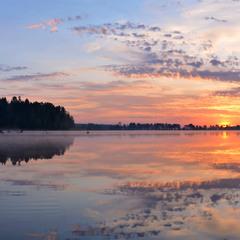 Рассвет на Генеральских озерах