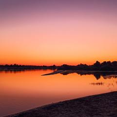 Чарівний захід сонця