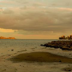Осенний вечер над Днепром