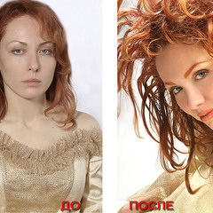 До и после. Преобразования на фотосесии