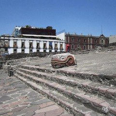 Old Aztec city in Mexico city