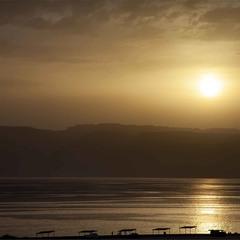 Закат над Мёртвым морем