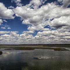 Низкие облака,  высокая облачность