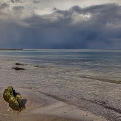 Вот такое сегодня море,вот такая сегодня зима....