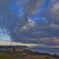 Декабрьский закат над морем