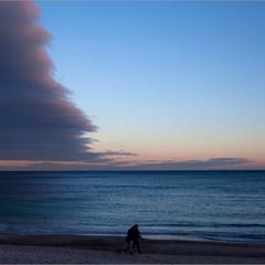 Прогулка у зимнего  моря