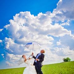свадьба в поле