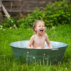 Удачное дачное купание