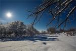 Сніг та сонце.
