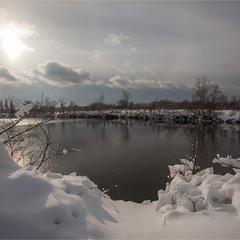 На озері.